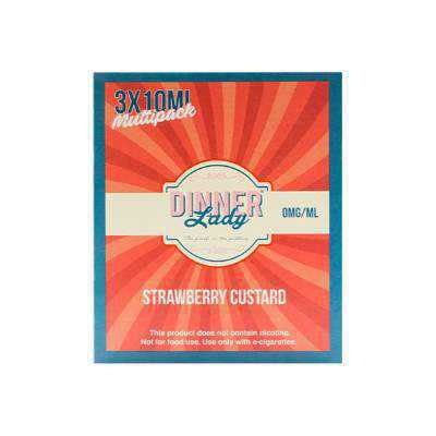 Dinner Lady Strawberry Custard 10ml x3 - Click Image to Close