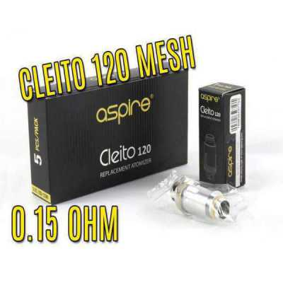 Aspire - Cleito 120 Mesh Coils 0.15 Ohms (Pack of 5)