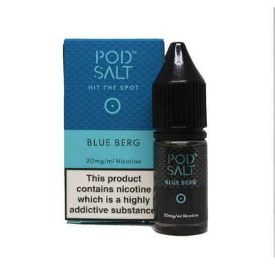 Blue Berg Nicotine Salt E-Liquid by Pod Salt 10ml