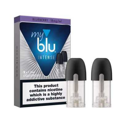 Blueberry Salt Nicotine E-Liquid Pod by Myblu Intense