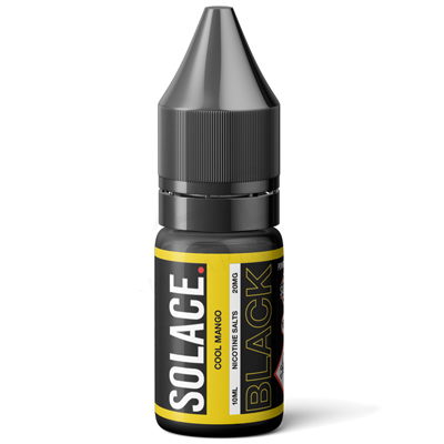 Cool Mango Nic Salt E-Liquid by Solace Black