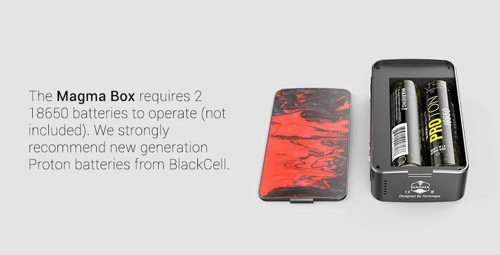 Famovape - Magma 200W Box Mod - Black Frame Edition