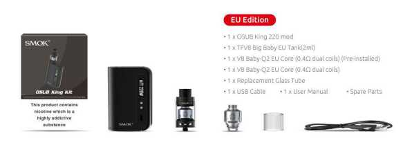 SMOK - OSUB King Kit 220W (EU Edition)