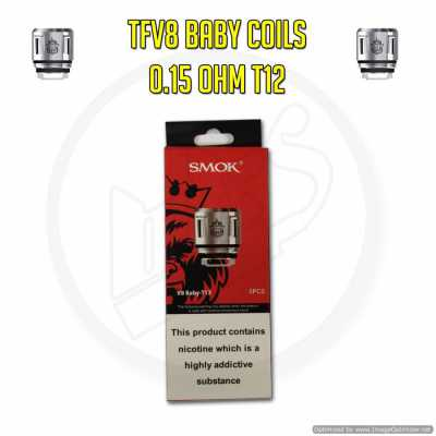 SMOK TFV8 Baby Coils - 0.15 Ohm T12 (Pack of 5)