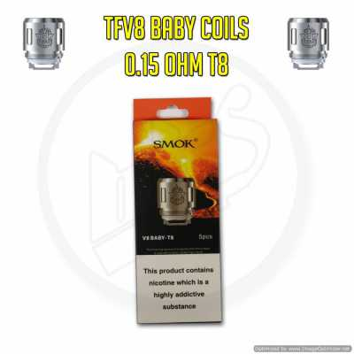 Smok TFV8 Baby Coils - 0.15 Ohm T8 (Pack of 5)
