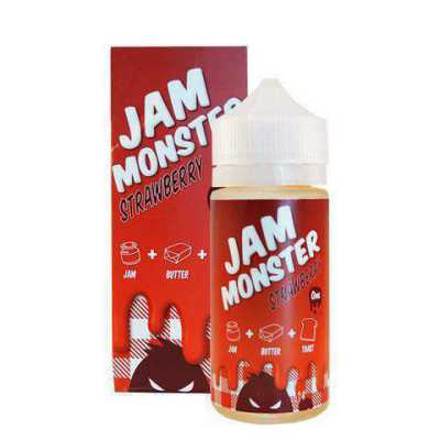 Strawberry E-Liquid by Jam Monster 100ml
