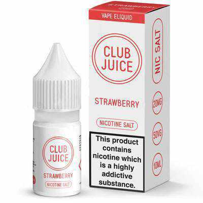 Strawberry Nic Salt E-Liquid by Club Juice