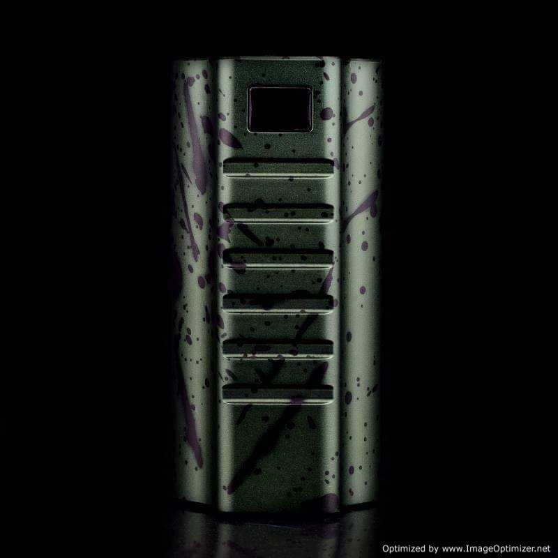 Vaperz Cloud - Stormbreaker Triple 21700 Mech Box Mod - GREEN / BLACK SPLATTER