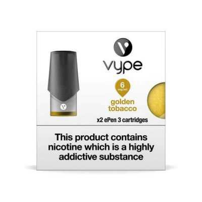 Golden Tobacco ePen 3 Prefilled Vape Pod by Vype