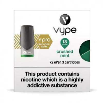Crushed Mint ePen 3 Prefilled Nic Salt Vape Pod by Vype