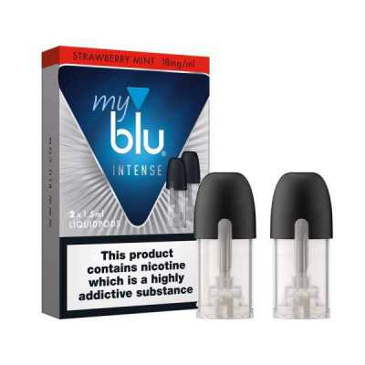 Strawberry Mint Salt Nicotine E-Liquid Pod by Myblu Intense