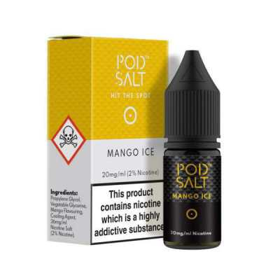 Mango Ice Nicotine Salt E-Liquid by Pod Salt 10ml